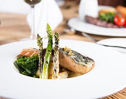 The Bastion Bar & Restaurant Salmon & Asparagus