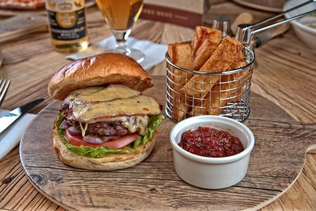 Burger and Chips at Shankly Hotel