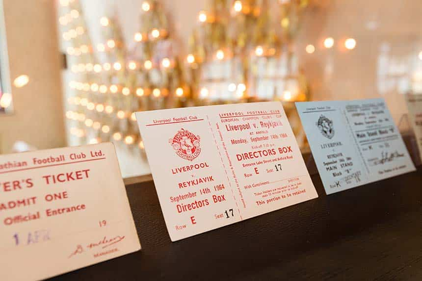 Shankly Hotel Memorabilia - Liverpool Football Club tickets