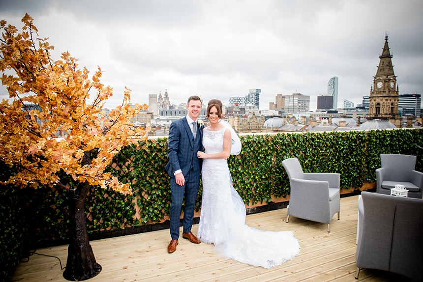 The first wedding Garden of Eden roof top space in Liverpool