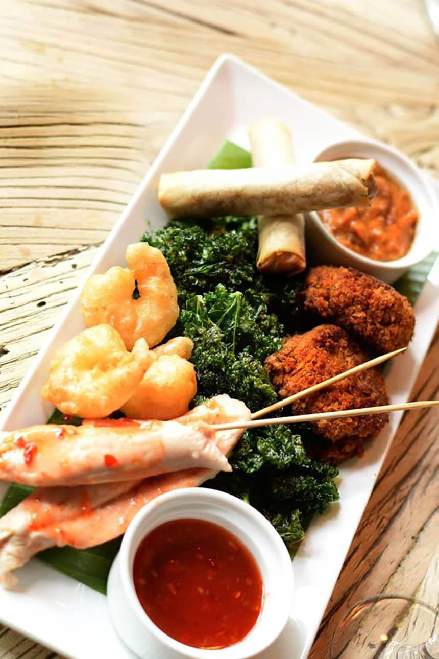 sharing platter at The Bastion Bar & Restaurant
