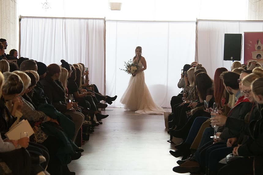 Catwalk at The Garden of Eden Wedding Show