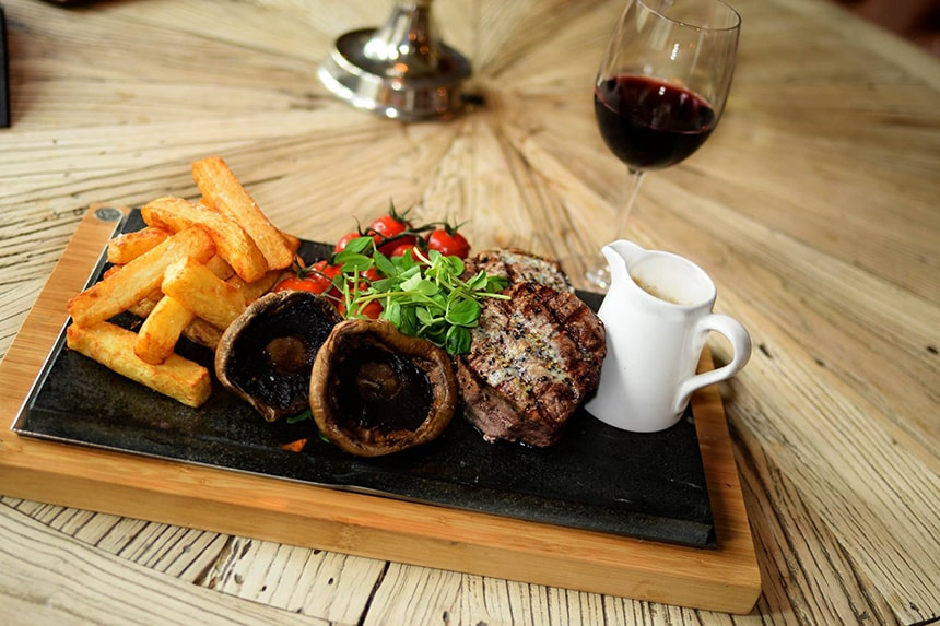 Double Steak Fillet Sharer at The Bastion Bar & Restaurant
