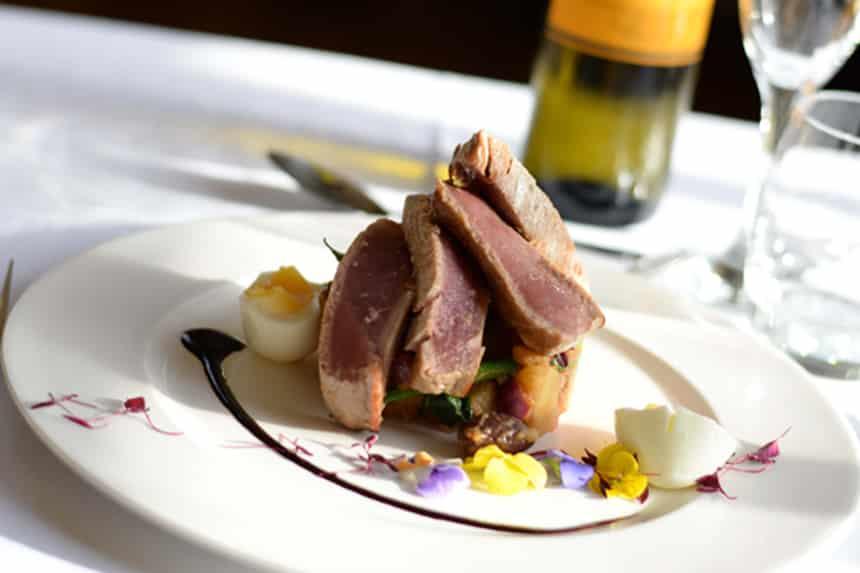 Quail steak - new menu Bastion bar and restaurant