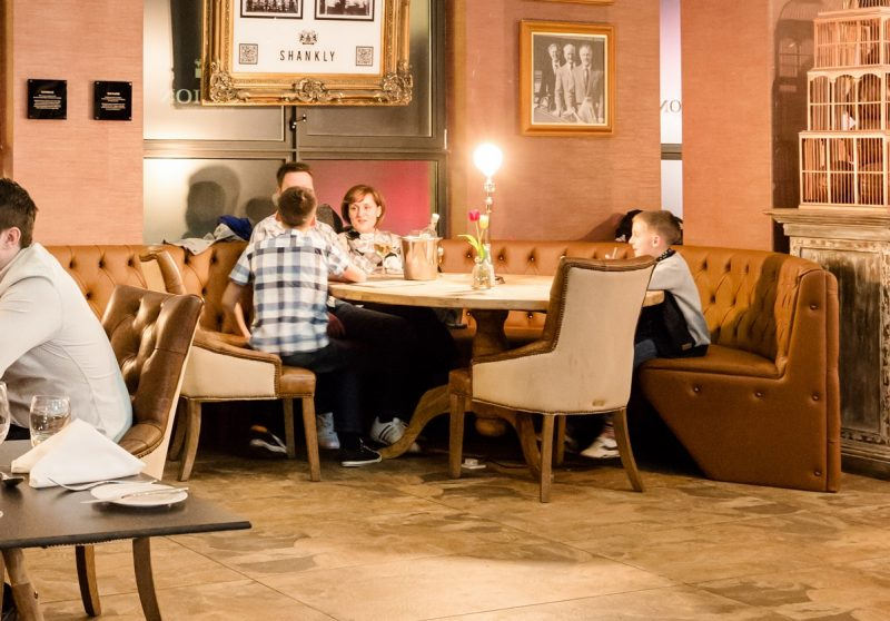 Family dinner Shankly Hotel - kid friendly hotels in Liverpool