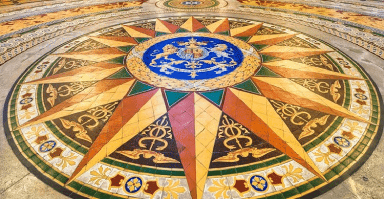 family visit to Liverpool - Minton tile floor