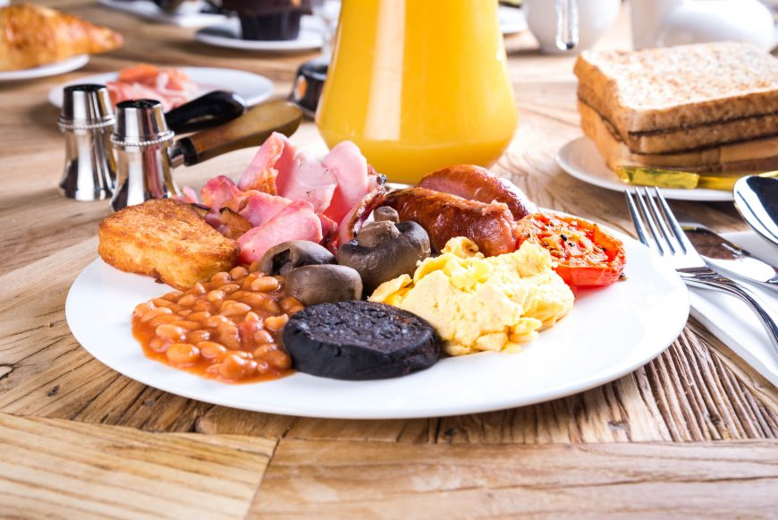 Full English breakfast - fathers day ideas