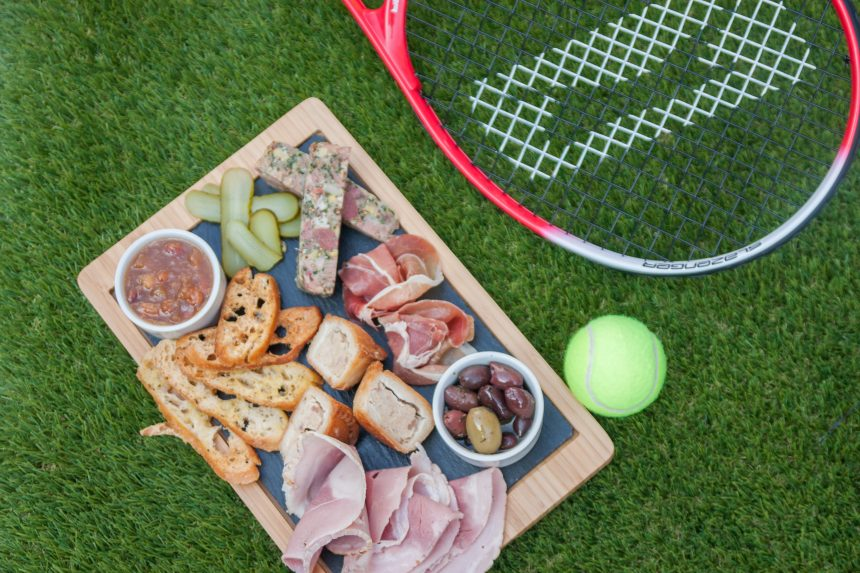 tennis themed afternoon tea