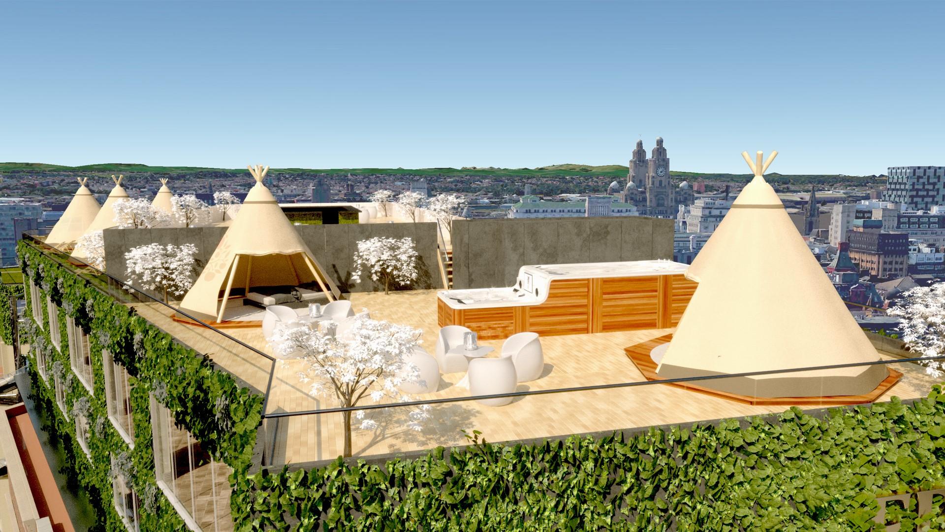 Tipi rooftop venue