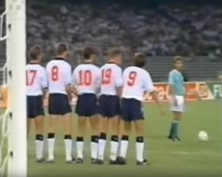 england world cup 1990