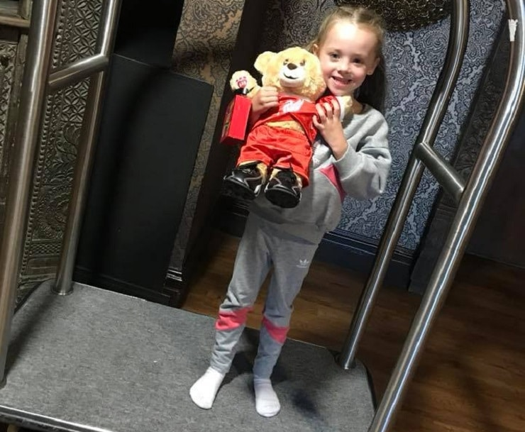 Bill the Bear helping with the luggage - kid friendly hotels in Liverpool